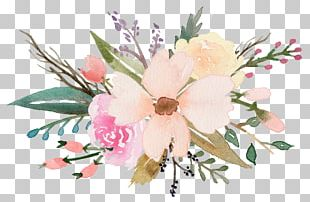 Floral Design Wildflowers Watercolor Painting PNG