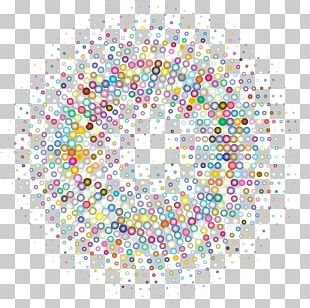 Halftone Circle Color PNG