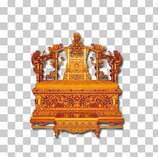 Forbidden City Emperor Of China Qing Dynasty Throne Chair PNG