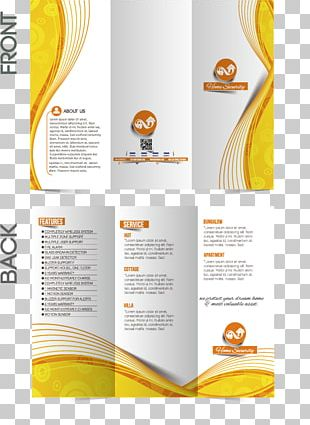 Brochure Graphic Design Template PNG