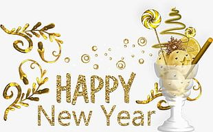 Happy New Year Decorative Material PNG