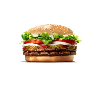 Whopper Hamburger Cheeseburger French Fries Big King PNG
