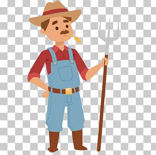 Farmer Cartoon Agriculture PNG