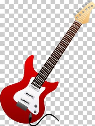 Fender Stratocaster Electric Guitar Cartoon PNG
