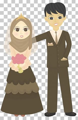 Doodle Wedding Drawing Muslim PNG