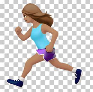Emoji IOS 10 The Female Runner Running PNG