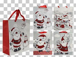 Santa Claus Paper Gift Christmas Day Bag PNG
