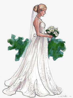 Hand-painted Bride PNG