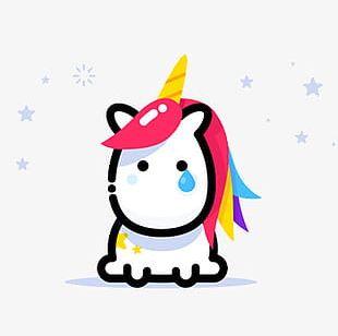 Sad Unicorn PNG