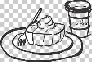 Black And White Coffee Drawing Hamburger PNG