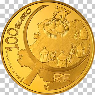 Coin Asterix Obelix Gold 100 Euro Note PNG