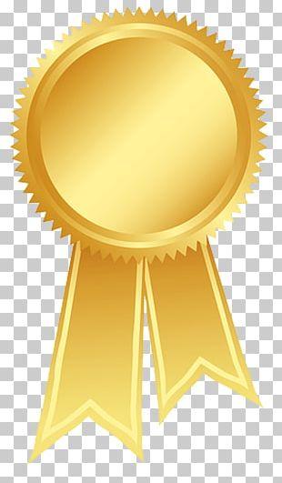 Ribbon Gold Rosette Award PNG