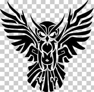 Tattoo Artist Black-and-gray Owl Tribal Gear PNG