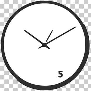 Circle Point Angle Clock Font PNG