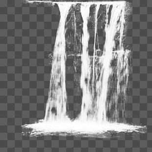Paintbrush Waterfall Ink Brush PNG