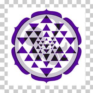 Sri Yantra Sacred Geometry Mandala PNG