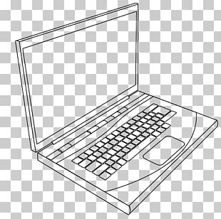 Laptop Coloring Book Computer Keyboard Page PNG