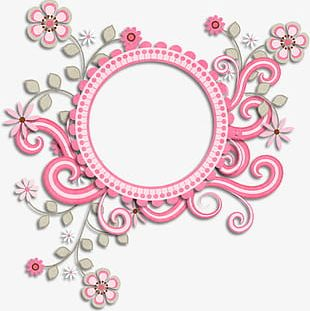 Beautiful Pink Lace Frame PNG