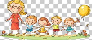 Teacher Child Cartoon PNG