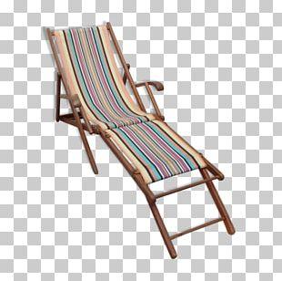 Chaise Longue Deckchair Wood Garden Furniture PNG