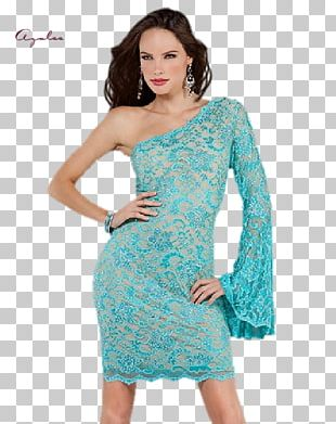 Shoulder Cocktail Dress Fashion PNG