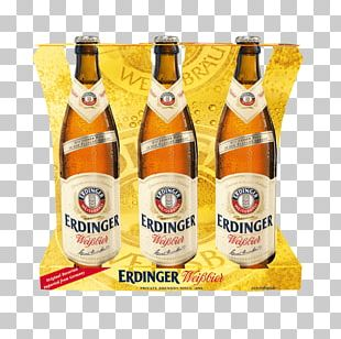 Wheat Beer Erdinger Hefeweizen Beer Bottle PNG