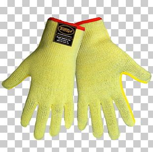Cut-resistant Gloves Yellow PNG