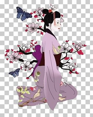 Japan Geisha Drawing Illustration PNG