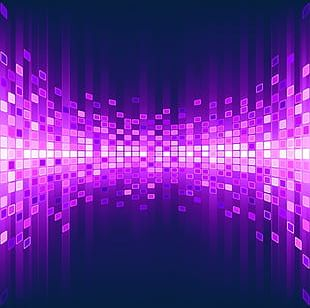 Purple Particle Background Light Effect PNG