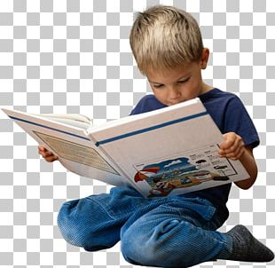 Reading Child Book PNG