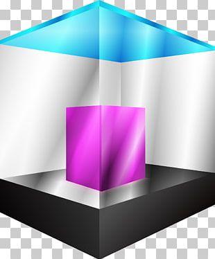 Cube CMYK Color Model PNG