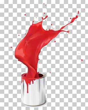 Paint Bucket Stock Photography Red PNG