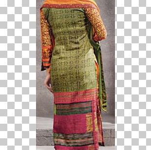 Magenta Green Yellow Embroidery Suit PNG