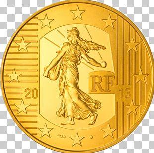 Coin Gold 100 Euro Note Monnaie De Paris PNG