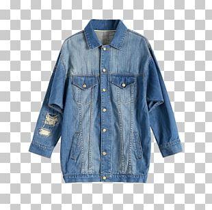 Denim Jean Jacket Fashion Coat PNG