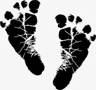 Black People Footprints PNG