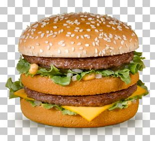 McDonald's Big Mac Fast Food Hamburger Eating PNG