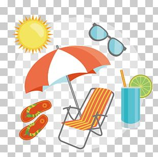 Beach Umbrella Orange PNG