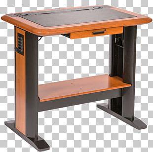 Computer Desk Standing Desk Table PNG