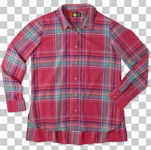 Tartan Sleeve Button Shirt Outerwear PNG