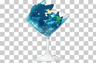 Wine Glass Blue Hawaii Martini Cobalt Blue PNG