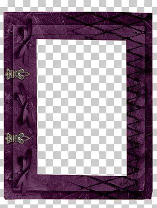 Purple Frame Motif Pattern PNG