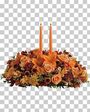 Floristry Flower Centrepiece Autumn Teleflora PNG