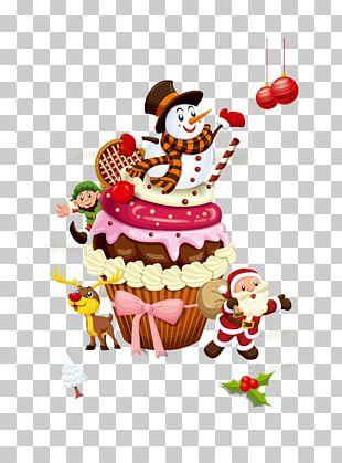 Santa Claus Christmas Cake Wedding Cake Cupcake PNG