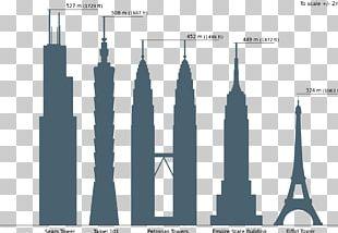 Willis Tower Empire State Building Petronas Towers Taipei 101 Burj Khalifa PNG