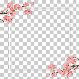Cherry Blossom Tree Branch PNG