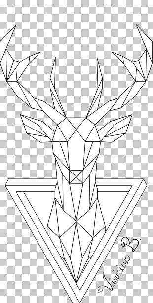 Deer Geometry Drawing Line Art PNG