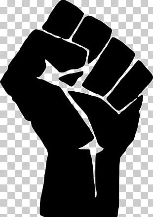 Raised Fist Symbol T-shirt Black Power PNG
