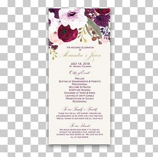 Wedding Invitation Flower Purple Pink Lilac PNG