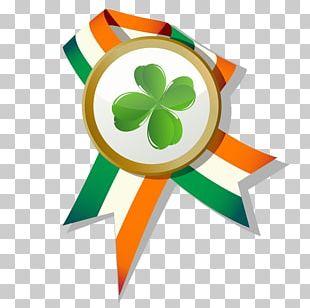 Ireland Saint Patricks Day Four-leaf Clover Illustration PNG